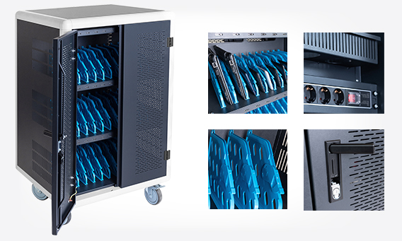 DIGITUS mobile charging cabinet for notebooks / tablets